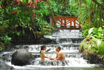 Tabacon resort hot springs