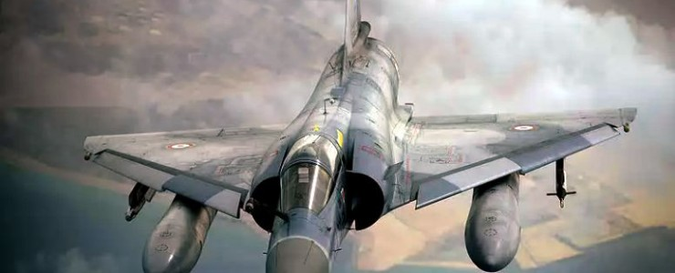 French Mirage fighter jet