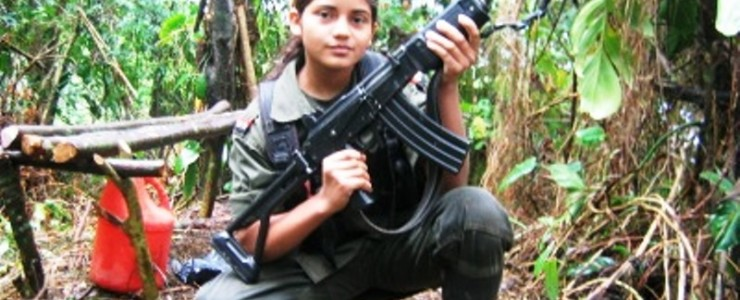 FARC child fighter. Flickr Commons